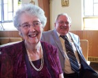 Pa and Ma during one of Pa's rare appearances in church (for a granddaughter's wedding!)