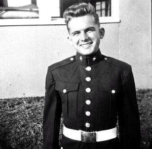 Pa at 17 -  when he became a United States Marine