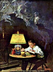 boy reading adventure