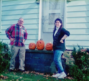 Pa and Mary with pumpkin