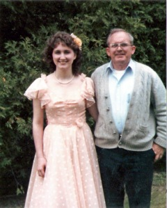 Pa and Mary before Mary's prom 1984 edited