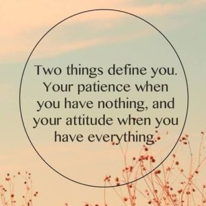 two things define you