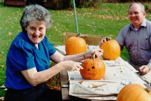 Ma with pumpkin